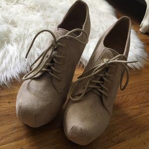 Nude booties/heels